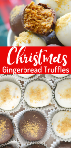 Chocolate Gingerbread Truffles just what you needed this holiday season!! Round out your cookie tray with these delectable candies. Only five ingredients are required to make these simple but amazing chocolate truffles!