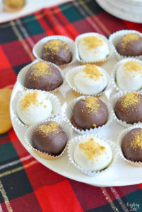 Holiday Gingerbread Truffles Dipped in Chocolate