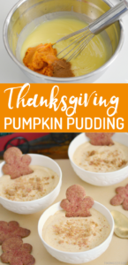 Pumpkin pudding is a fabulous pie alternative for Thanksgiving dessert. Who says you have to slave in the kitchen for a delicious fall treat? Canned pumpkin and cinnamon transform a box pudding into something truly special. Serve this 5-minute dessert with gingerbread cookies for a great flavor combination.