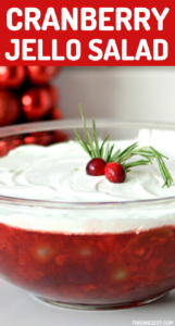 Cranberry Jello Salad is super easy to prepare with just 10 minutes and 5 ingredients! This jello salad recipe is full of flavor and a refreshing side dish. Your whole family will love this new addition to the Christmas or Thanksgiving dinner table!