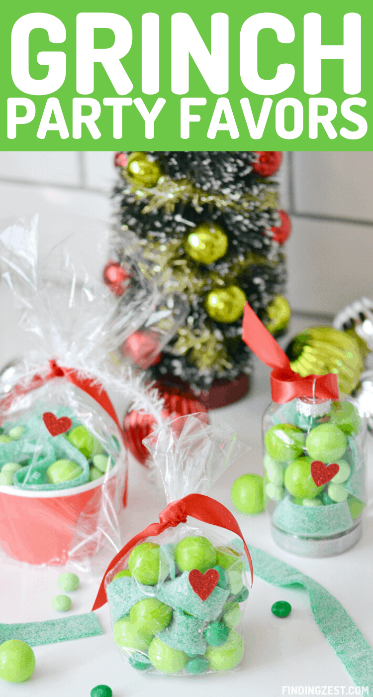 Grinch party favors are the perfect way to spread some holiday cheer this season! Try one of these three Christmas party favor ideas featuring the beloved Christmas character from Dr. Seuss. Using some fun green candy,  you can make The Grinch ornaments or go the more traditional route using party bags and cups. Either way, everyone will love to receive one of these three Grinch gifts.
