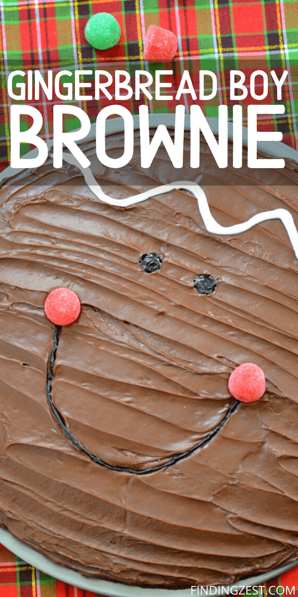 Gingerbread Boy Brownies are the cute Christmas Brownie idea you didn't know you were missing! Have fun decorating this easy dessert idea!
