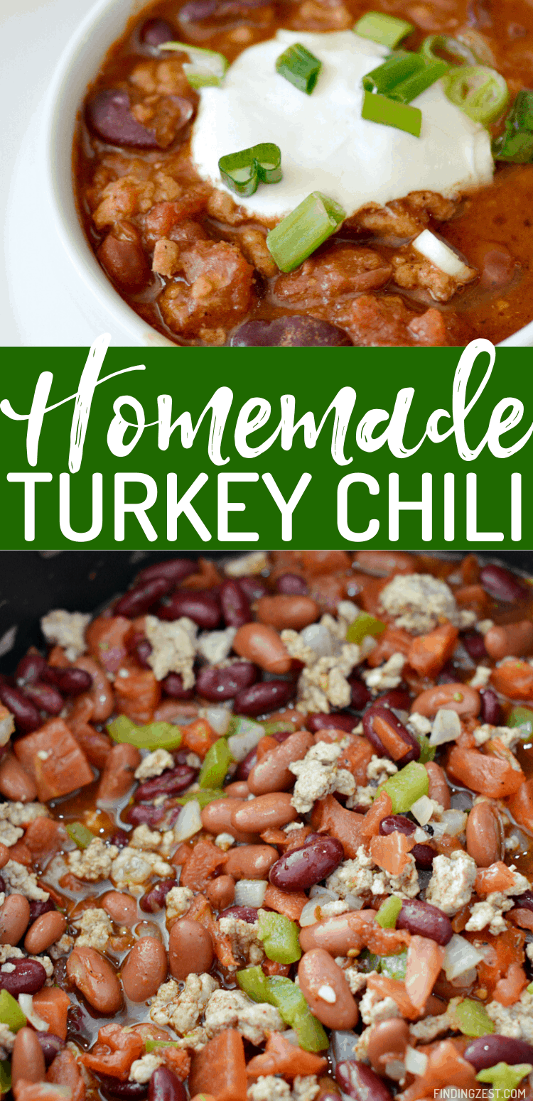 Homemade chili with turkey is a healthy dinner that your whole family will love. This one-pot meal is hearty and features Hunt's Tomatoes and Rotel Original Diced Tomatoes with Green Chilies so it is loaded with flavor! Give it a try on a busy weeknight and fight over the leftovers.