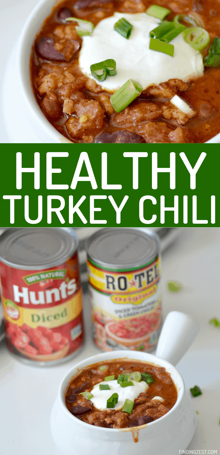 Healthy Turkey Chili has never tasted this good! Your whole family will love this flavorful and hearty homemade chili recipe.