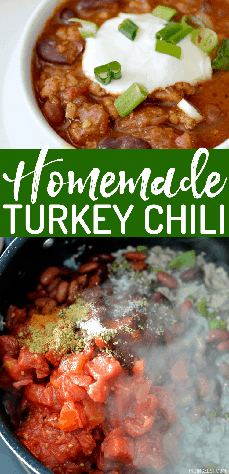 Homemade chili with turkey is your answer for a hearty, one-pot meal. Your whole family will love this easy and healthy dinner option.
