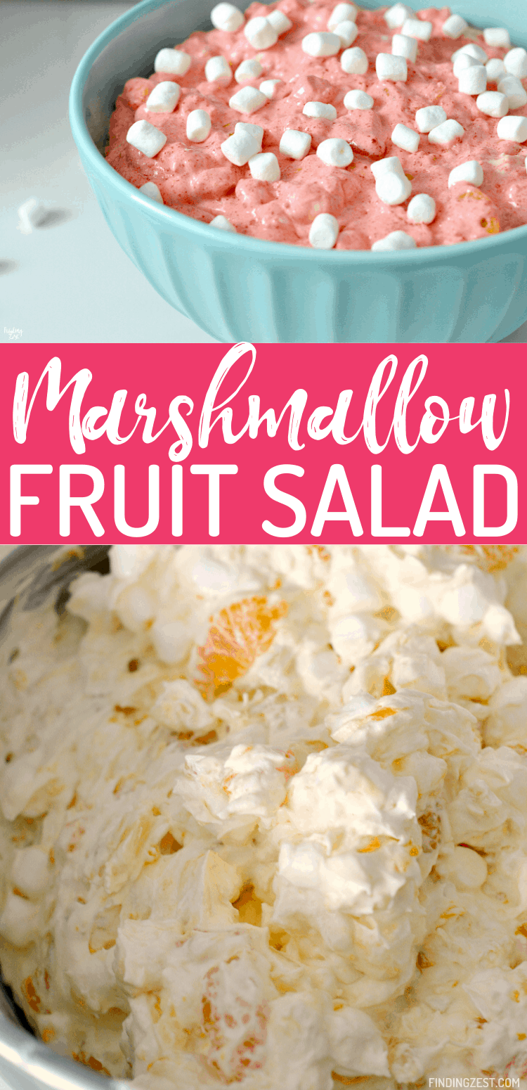 Jello Marshmallow Salad is a refreshing and sweet salad that will become a favorite side dish for any time of year! Easy to customize with your favorite gelatin flavor, this Cherry Jello Salad with marshmallows and cool whip can be ready to eat just a couple of hours. Simply stir together all your ingredients and chill for a super flavorful fluff salad that is great for feeding a crowd!