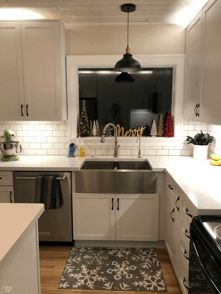 Modern Farmhouse Remodel White Cabinets Subway Tile