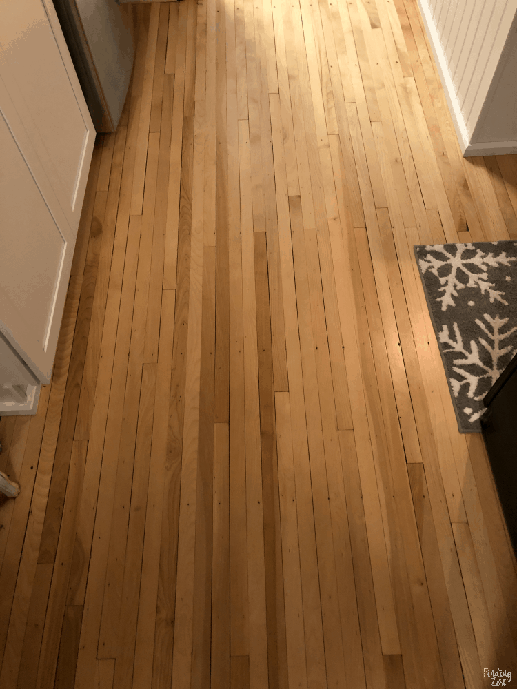Refinished Maple Hardwood Flooring in Ktichen