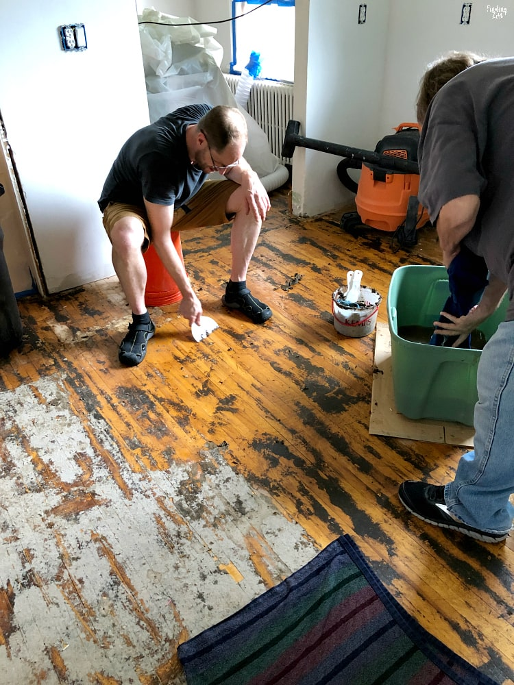 Getting glue off hardwood floors