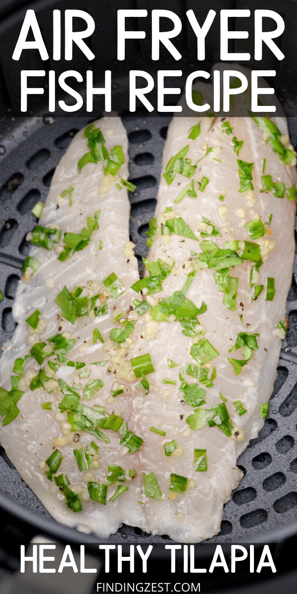 Air fryer fish recipes have never been easier than this fresh tilapia recipe! No breading is required for this healthy dinner you can have on your table in under 15 minutes!