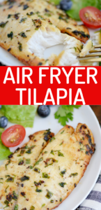Air fryer tilapia is super easy and healthy with just a few ingredients. Get golden brown and flaky fish every time by cooking your tilapia in the air fryer. You won't believe the results!