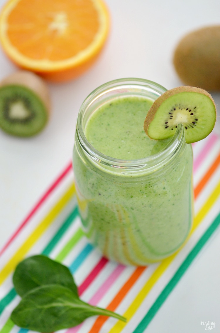Spinach Smoothie with Banana is a great way to start your morning off right!