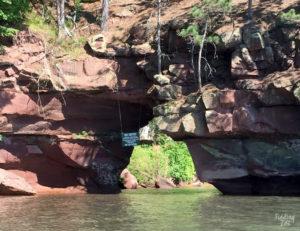 Secret Sea Cave Arch Bayfield Wisconsin