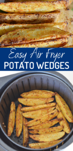 Air fryer potato wedges are absolutely bursting with flavor! This recipe is extremely easy but oh so delicious! Homemade potato wedges have never been tastier than this air fryer version.