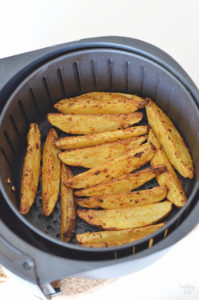Potato Wedges in the Air Fryer Cooked