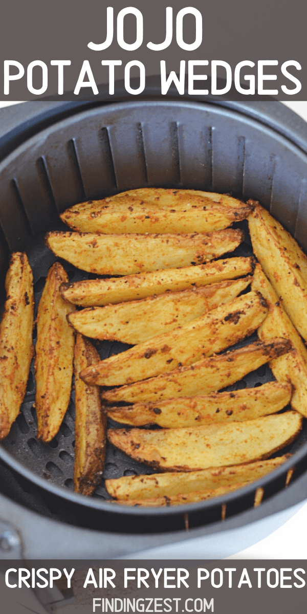 Air fryer potato wedges are quick and easy to make with just a few pantry items! Combine two russet potatoes with just a few spices and oil