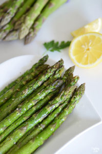 Air Fryer Asparagus is the best and easiest way to cook asparagus! Get that delicious roasted asparagus flavor we all know in love in just a fraction of the time. Only a few ingredients are required!