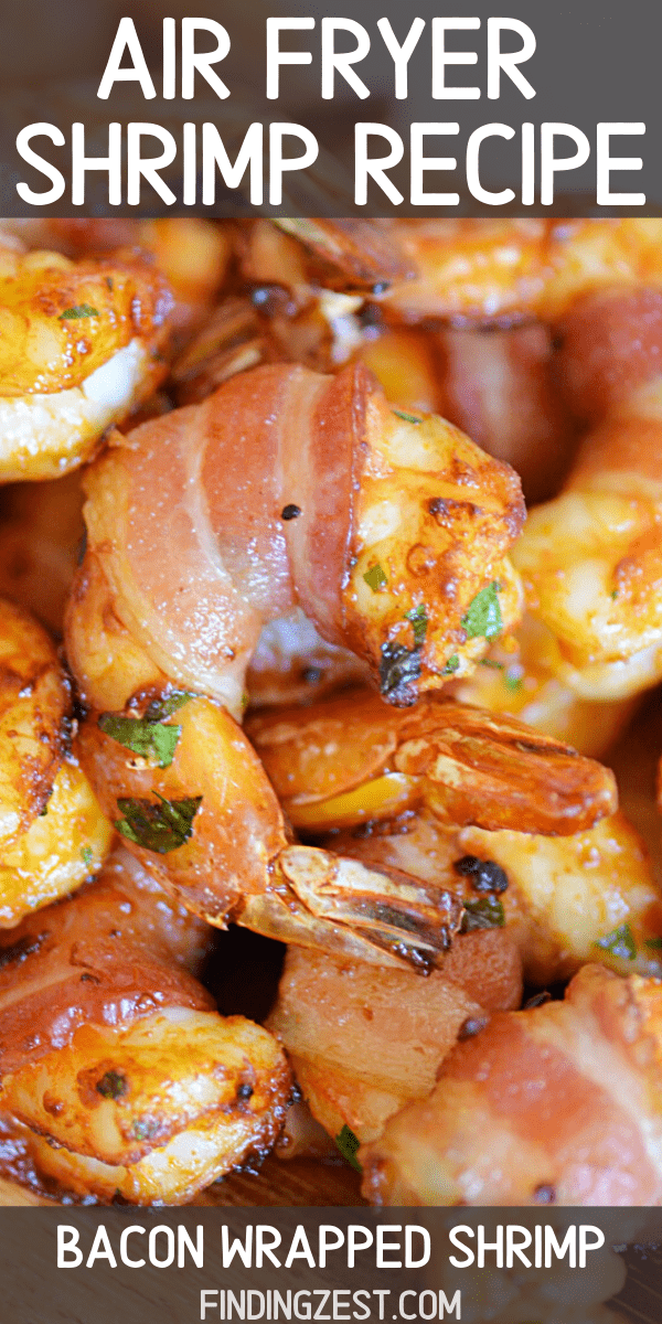 Shrimp in the Air Fryer has never tasted so good! Everything is better with bacon, right? Dunk this flavorful shrimp with bacon in your favorite sauces. Perfect for every day, special celebrations, cookouts, game day and more.