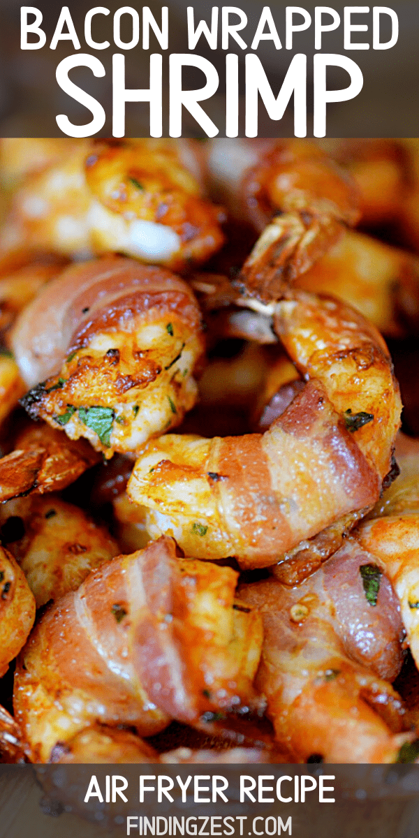 Bacon Wrapped Shrimp in the air fryer is the appetizer, game day snack or main meal option for all you bacon lovers! This seasoned shrimp is not spicy but loaded with flavor, making it a hit for the whole family. You won't be able to resist this shrimp and bacon appetizer!