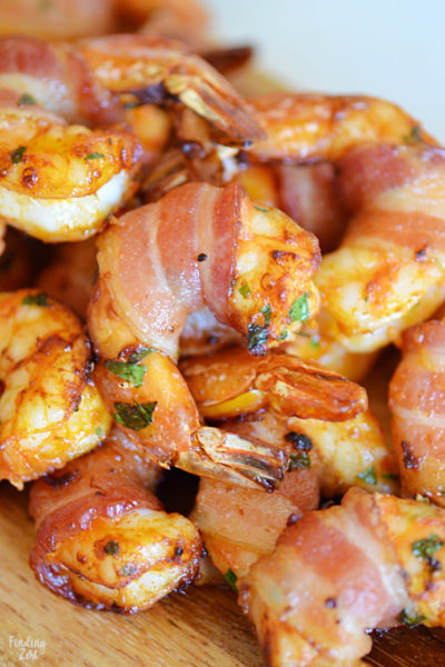 Shrimp and bacon are a killer combination. Give this bacon wrapped shrimp appetizer a try in your air fryer for easy prep! No air fryer? No problem! Baking instructions are also included!