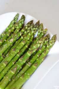 Roasted aparagus in the air fryer