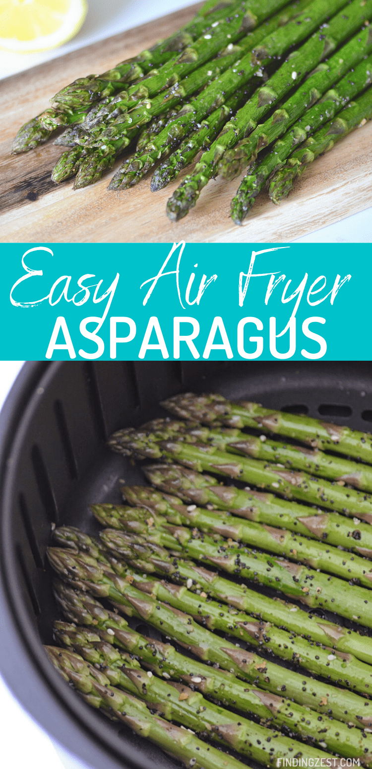 Air Fryer Asparagus is the best and easiest way to cook asparagus! Get that delicious roasted asparagus flavor we all know in love in just a fraction of the time.