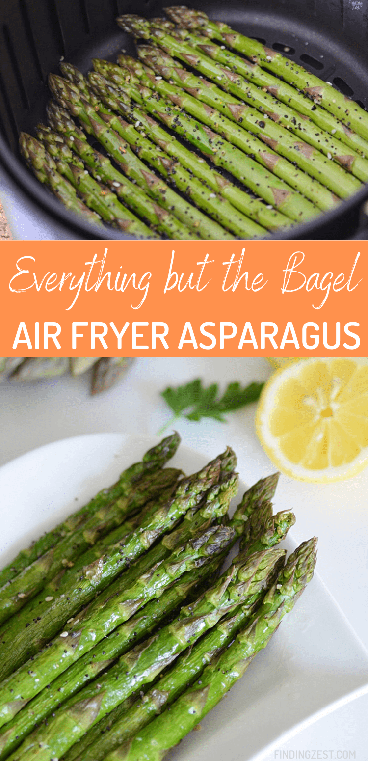 Everything but the Bagel Asparagus is the side dish you didn't know you were missing. Skip turning on the oven and cook your asparagus in the air fryer for an amazing side dish!