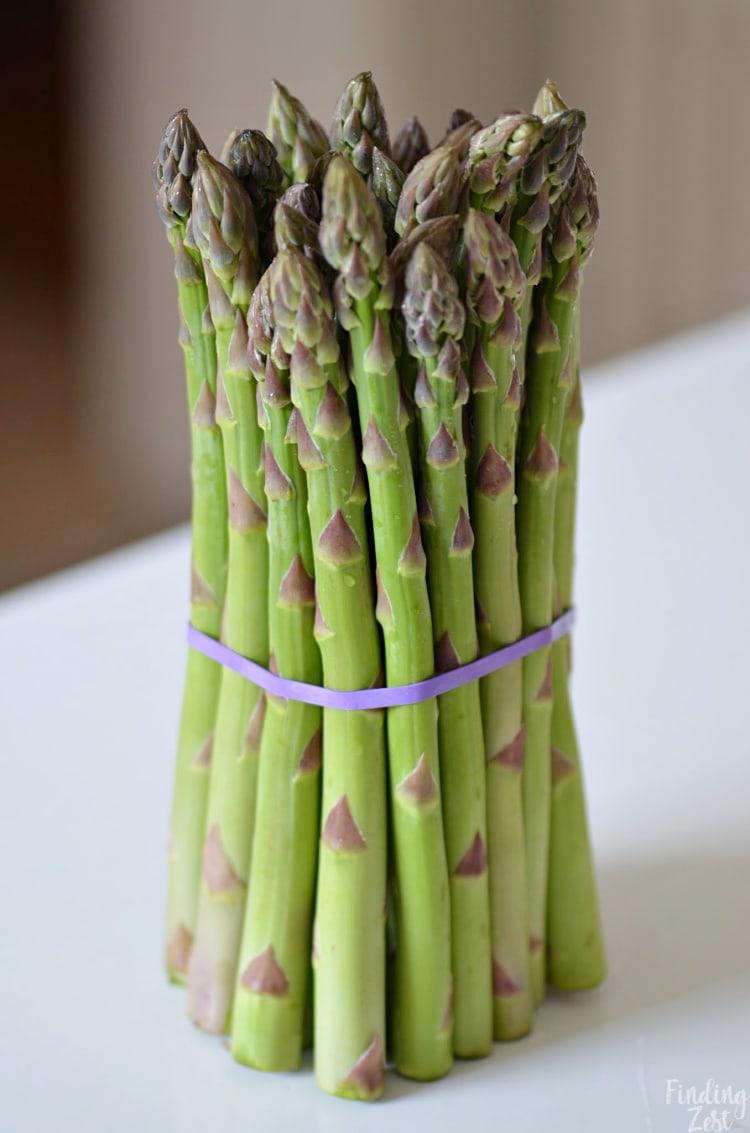 Fresh bundle of Michigan Aparagus