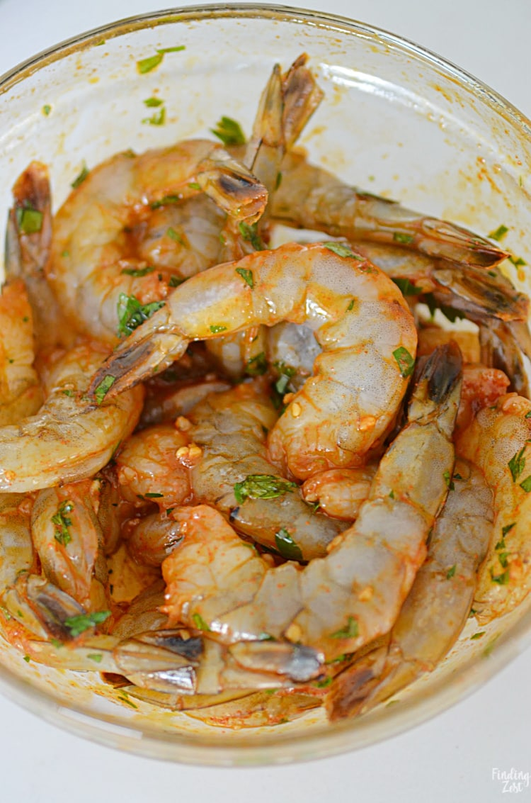 Seasoned shrimp for appetizer