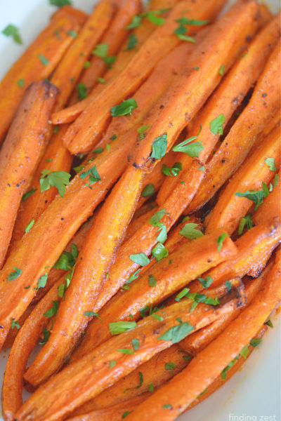 Easy Air Fryer Carrots for a delicous side dish option for any occasion or every day dinner making!