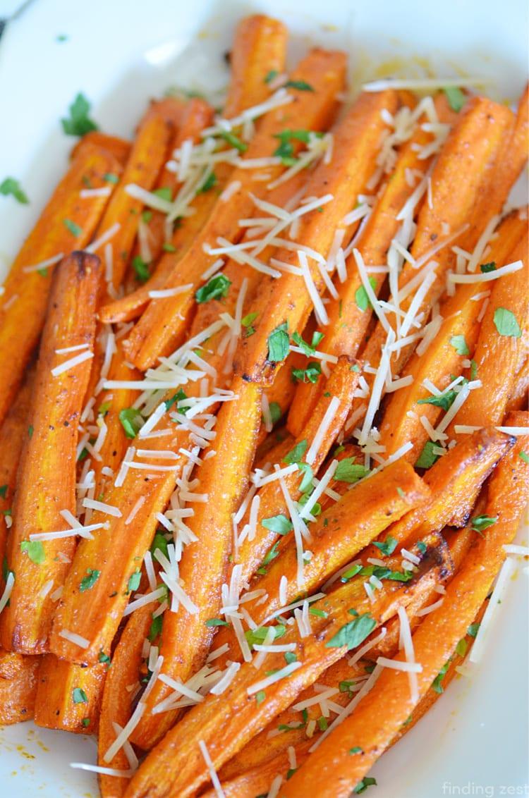 Air Fryer Carrots with Parmesan