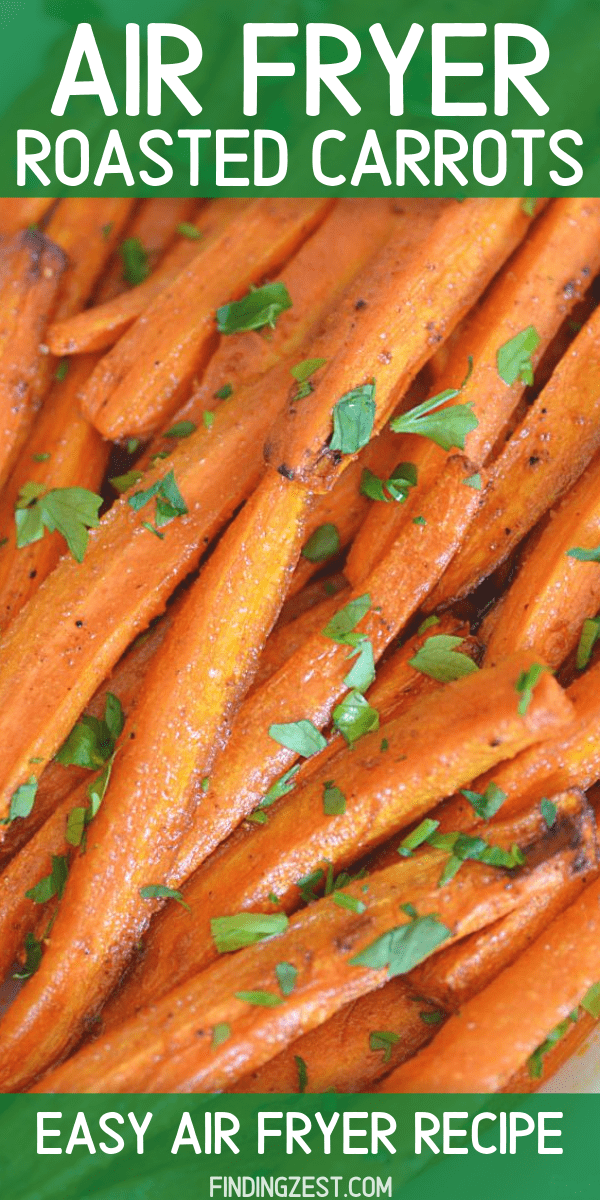 Air Fryer Carrots are the perfect side dish for any meal! Whip up these tasty roasted carrots in the air fryer in just a few minutes. Using staple pantry spices, these carrots are simple but delicious for every day or special occasions.