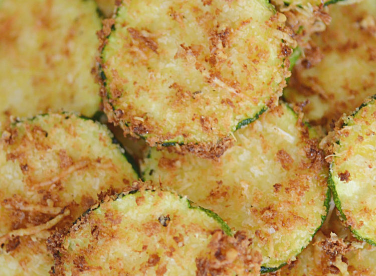 Air Fryer Zucchini Chips with Panko Crumbs and Parmesan