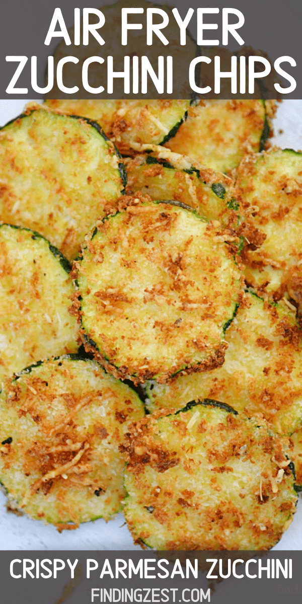 Air Fryer Zucchini has never been tastier than this zucchini recipe! These crispy vegetable chips making an amazing appetizer or game day snack. Perfect for dipping in marinara! So flavorful, it is sure to be a hit with any crowd!