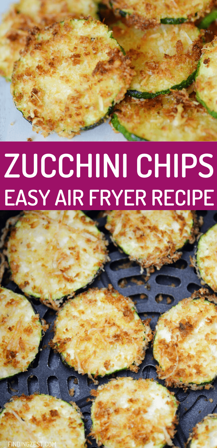 Zucchini Chips in the air fryer will remind you why you love your air fryer! This crispy breaded snack is full of flavor and perfect for dipping in your favorite sauces. We love serving it with marinara! Makes a great game day snack or hot party appetizer!