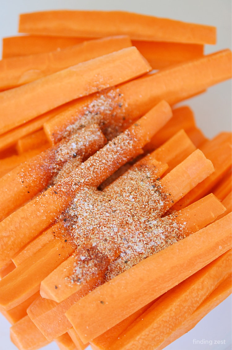 Carrots with spices from pantry