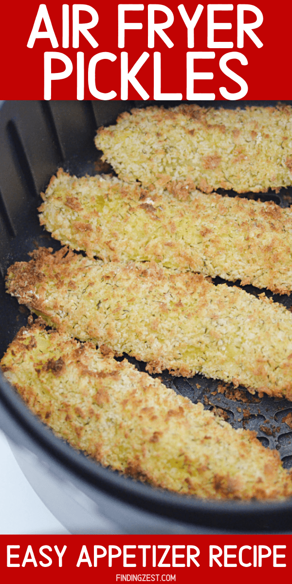 Air fryer pickles are the perfect appetizer for all pickle lovers! You'll love the flavorful and crispy breading on these pickle spears. Works great to dip in marinara or ranch dressing!