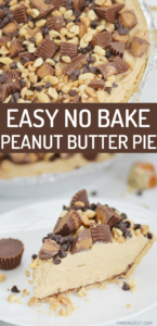 Calling all peanut butter lovers! You'll love this no bake peanut butter pie that you can prepare in just 15 minutes. Enjoy that creamy goodness anytime you have a craving or serve it up for your next holiday or celebration.