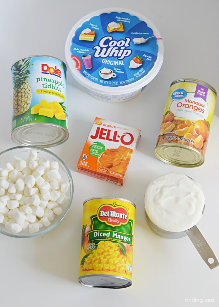 Fluff Salad Ingredients without cottage cheese