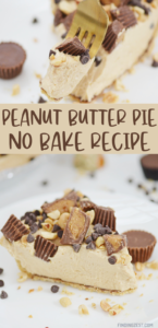 No Bake Peanut Butter Pie is a delicious dessert you can serve year round! Need a great Thanksgiving alternative to pumpkin pie? Want to surprise guests at your Christmas party? Need a summer pie that doesn't require you to turn on the oven? Whatever your needs, this pie is for YOU!