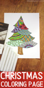 Christmas Coloring Pages are a great way to fight boredom this holiday season! Whether you need an adult coloring page or a coloring page for kids, this pine tree free printable works well for all ages!