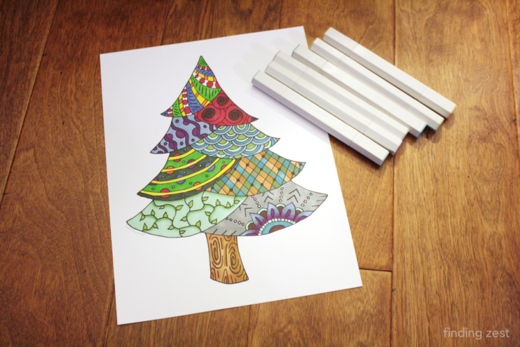 Christmas Coloring Page for adults and children.