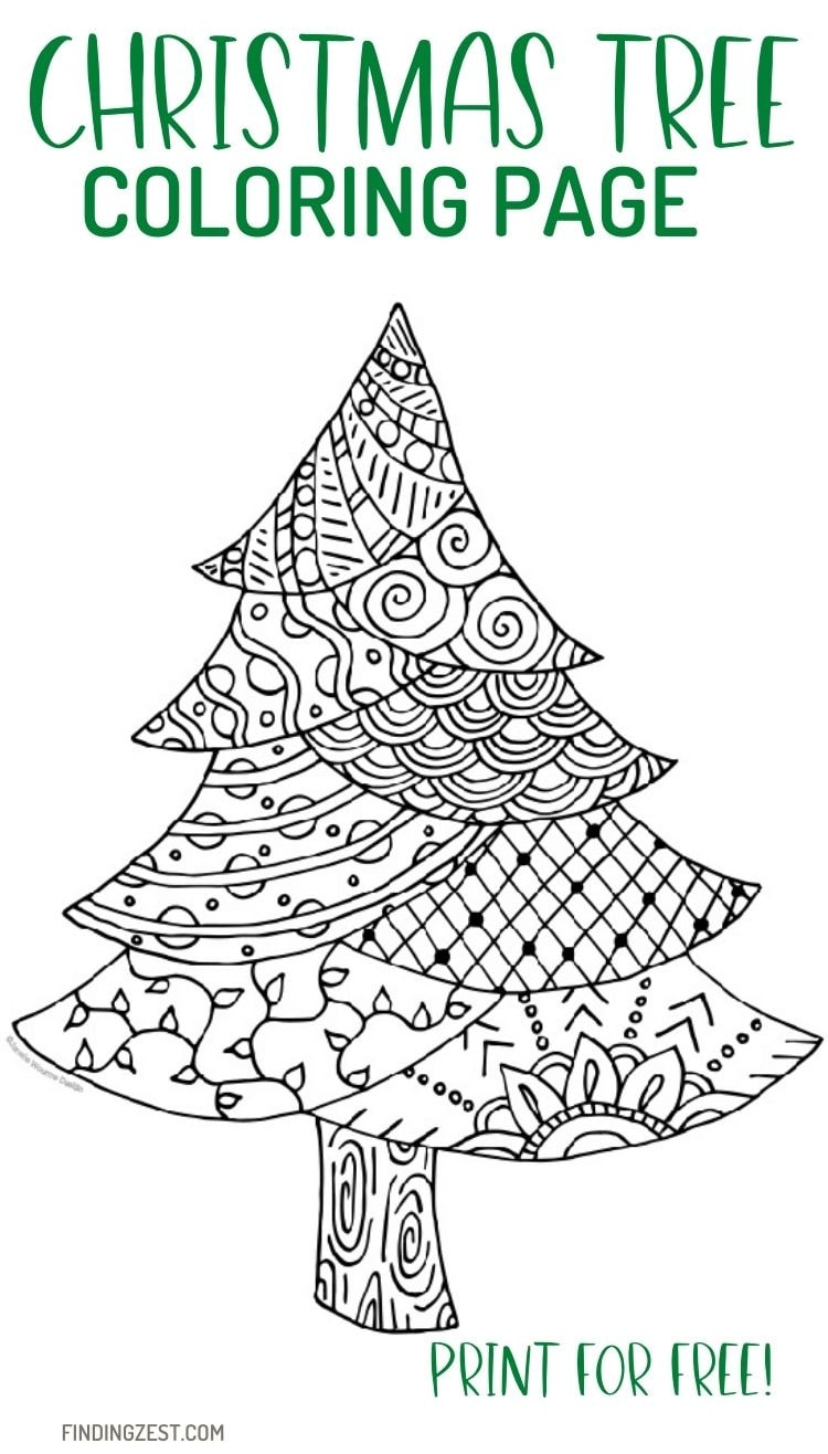 Christmas Tree Coloring Page Free Printable to Download