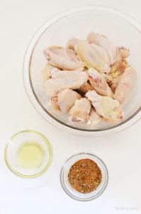 Ingredients for Lemon Pepper Wings