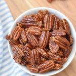 Honey Roasted Pecans with Cinnamon