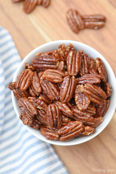 Hey pecan lovers! Give these Honey Roasted Pecans a try next time you are craving a sweet and salty snack. Easy to prepare in the oven, these roasted pecans are hard to resist.