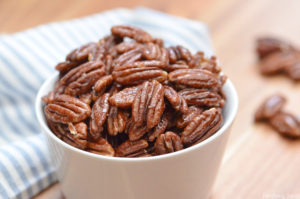Learn how easy it is to make honey roasted pecans in the oven!
