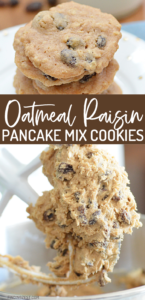 Love chewy cookies? Then you'll love this easy pancake cookie recipe using Bisquick and a few staple ingredients. Use chocolate chips or raisins to create a cookie that is downright irresistible!