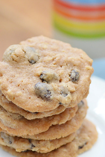 Pancake Mix Cookies are an easy way to make a soft and chewy cookie that is full of flavor! Add oatmeal and raisins or chocolate chips for a cookie that is irresistible.