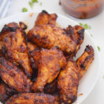Air Fryer BBQ Chicken Wings (with Dry Rub)